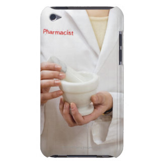 Pharmacist holding mortar and pestle iPod Case-Mate cases