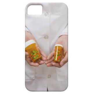 Pharmacist holding pill bottles iPhone 5 case
