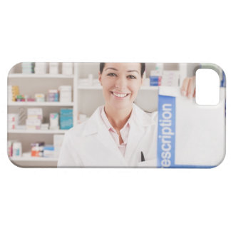 Pharmacist holding prescription in drug store barely there iPhone 5 case