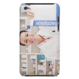Pharmacist holding prescription in drug store barely there iPod cover