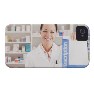 Pharmacist holding prescription in drug store iPhone 4 Case-Mate cases