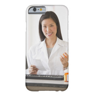 Pharmacist holding prescription medication barely there iPhone 6 case