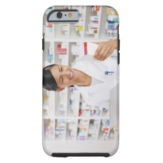 Pharmacist in drug store holding clipboard tough iPhone 6 case
