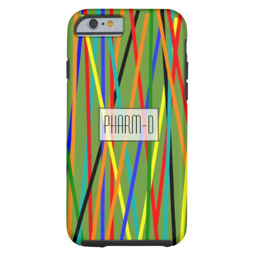 Pharmacist iPhone 6 case Colorful Sticks Green