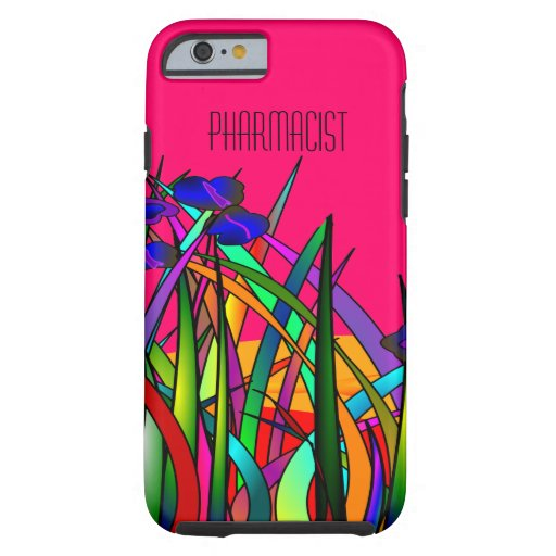 Pharmacist iPhone 6 case Whimsical Floral Hot Pink