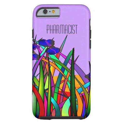 Pharmacist iPhone 6 case Whimsical Flowers Purple