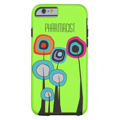 Pharmacist iPhone 6 case Whimsical Trees Green