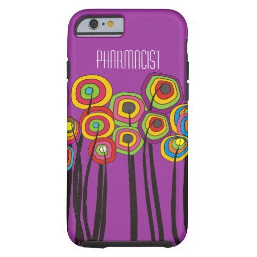 Pharmacist iPhone 6 case Whimsical Trees Magenta
