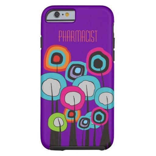 Pharmacist iPhone 6 case Whimsical Trees Purple 2