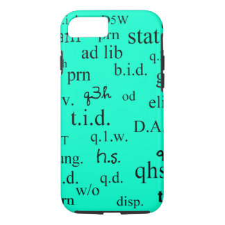 Pharmacist iPhone 7 case Abbreviations Bright Blue