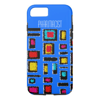 Pharmacist iPhone 7 case Abstract Blue