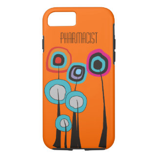 Pharmacist iPhone 7 case Whimsical Trees Orange