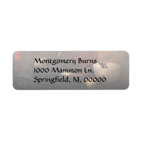 Pharmacist - Organising powder Return Address Label