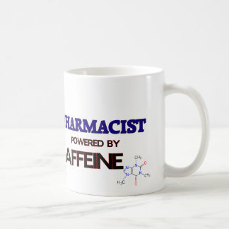 Pharmacist Powered by caffeine Basic White Mug