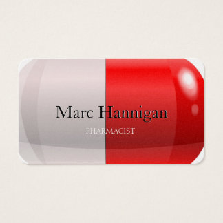 PHARMACIST - red pill pharmacy Business Card