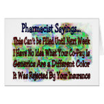 """Pharmacist sayings """"You Know You're Pharmacist IF"""" Card"""