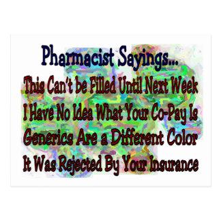 "Pharmacist sayings ""You Know You're Pharmacist IF"" Postcard"