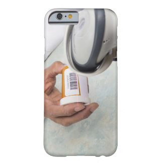 Pharmacist scanning pill bottle with a barcode barely there iPhone 6 case
