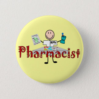 Pharmacist Stick Person--Gifts 6 Cm Round Badge