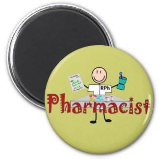 Pharmacist Stick Person--Gifts Magnet