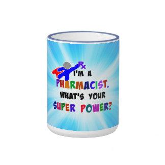 Pharmacist Superhero Custom Design Ringer Mug
