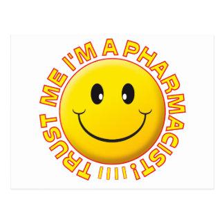 Pharmacist Trust Me Smiley Post Card