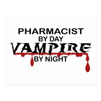 Pharmacist Vampire by Night Postcard