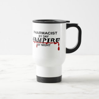 Pharmacist Vampire by Night Travel Mug