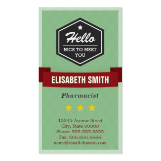 Pharmacist - Vintage Retro Stylish Pack Of Standard Business Cards