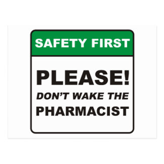 Pharmacist / Wake Postcard