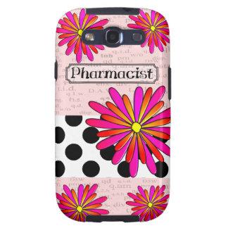 Pharmacist Whimsical Flowers Galaxy SIII Covers
