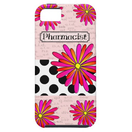 Pharmacist Whimsical Flowers Cover For iPhone 5/5S
