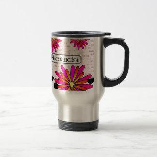Pharmacist Whimsical Flowers Stainless Steel Travel Mug