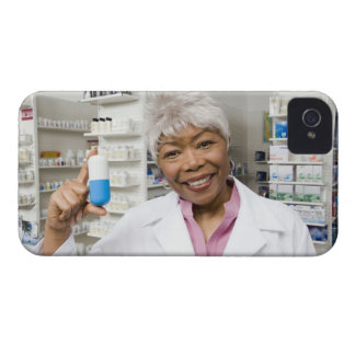 Pharmacist with giant pill iPhone 4 cases