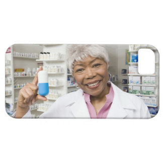 Pharmacist with giant pill iPhone 5 covers