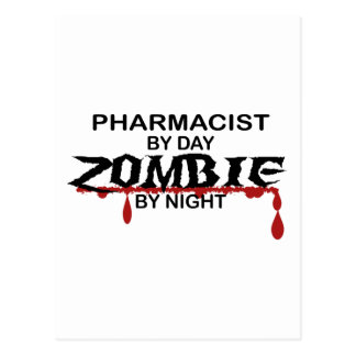 Pharmacist Zombie Postcard