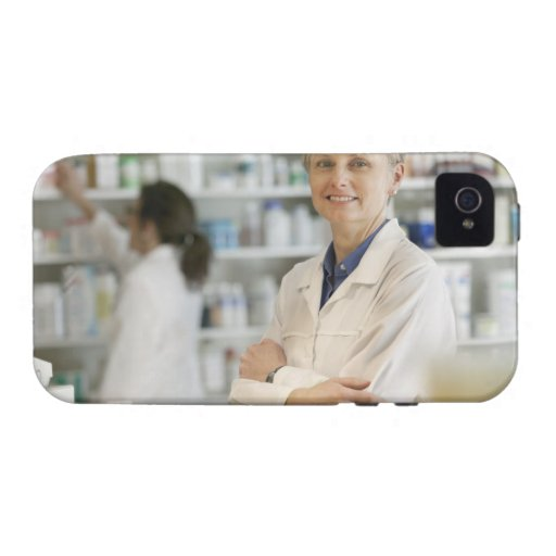 Pharmacists at counter of retail pharmacy Case-Mate iPhone 4 case