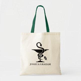 Pharmacology Bowl of Hygenia Symbol Budget Tote Bag