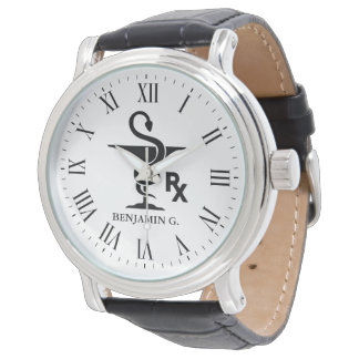 Pharmacology Custom Name Bowl of Hygenia Symbol Watch