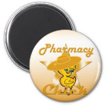 Pharmacy Chick #10 6 Cm Round Magnet