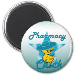 Pharmacy Chick #7 6 Cm Round Magnet