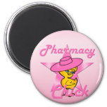 Pharmacy Chick #8 6 Cm Round Magnet