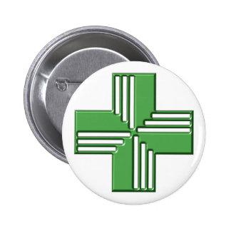 Pharmacy Cross 6 Cm Round Badge