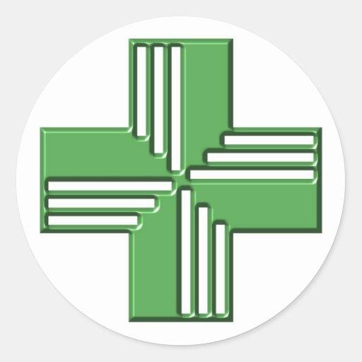 Pharmacy Cross Stickers