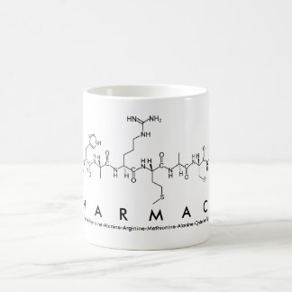 Pharmacy peptide word mug