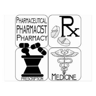 Pharmacy Pharmacist LOGO Post Cards