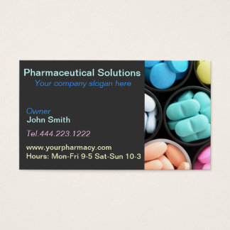 Pharmacy pharmacist medication list business card