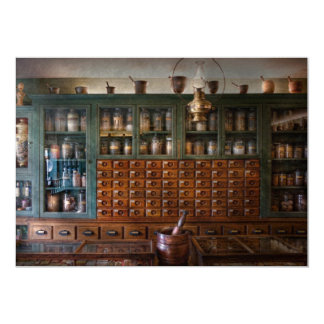 Pharmacy - Right behind the counter 13 Cm X 18 Cm Invitation Card