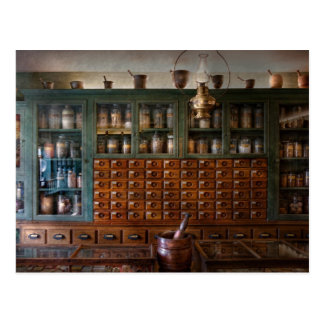 Pharmacy - Right behind the counter Postcard