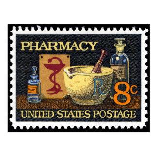 Pharmacy Rx Stamp~Pharmacist ~Druggist~Apothecary Postcard